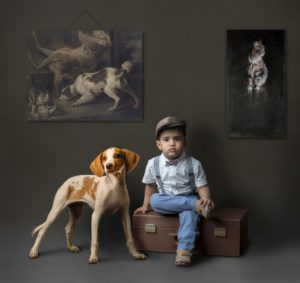 Chien et enfant photo