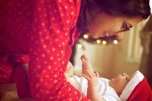 Mère, enfant, bébé, sourire, portrait, bonheur